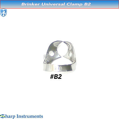 Rubber Dam Clamps Universal Brinker Anterior & Canines Bicuspid Steel Clamp B2