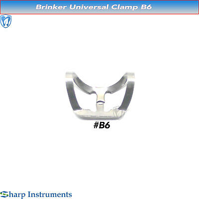 Rubber Dam Clamps Universal Brinker Anterior & Canines Bicuspid Steel Clamp B6