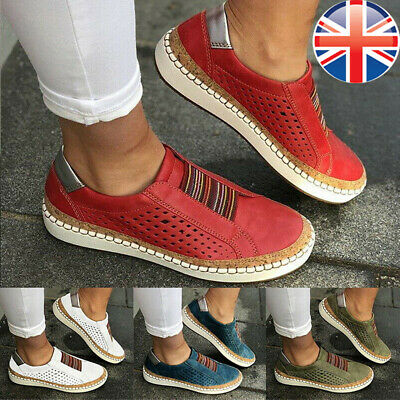 Women Breathable Slip On Trainers Pumps Summer Ladies Casual Comfy Loafers Shoes