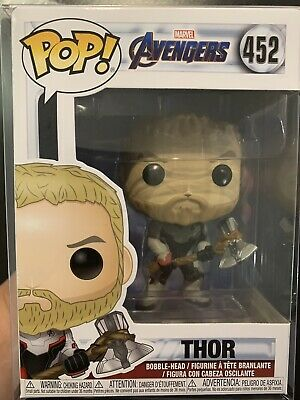 FUNKO Pop Marvel AVENGERS ENDGAME THOR Team Suit #452 4in Vinyl NEW