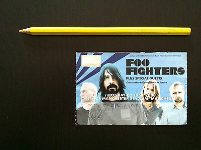 FOO FIGHTERS Biglietto Ticket concert used MANCHESTER 2008 Dave Grohl (Nirvana)