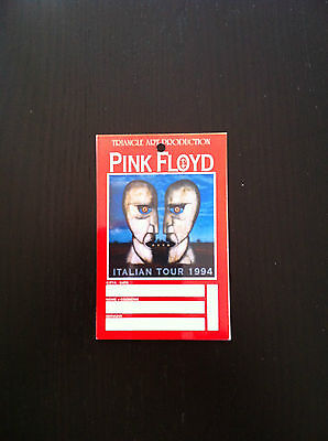 PINK FLOYD Pass ticket concert biglietto Division Bell Italy tour David Gilmour