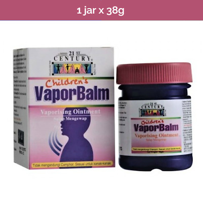 Kid's Vapor Balm for relief from flu blocked nose, cough and muscular aches -38g