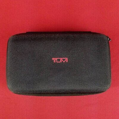 "Tumi for Delta Airlines First Class Black Travel Zip Case 7"" x 4"" x 2"""