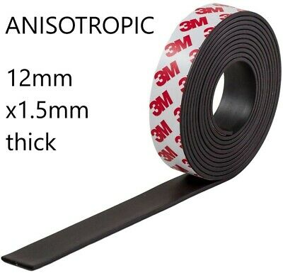 3M Self Adhesive strong backing Magnetic Tape Craft Magnet Strip 12mm x 1 metre