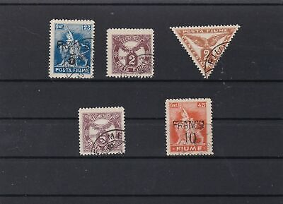 fiume 1919 and surcharge stamps  ref r12766