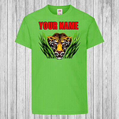 Children // Kids T-Shirt DTG YOUR NAME Personalized FRIENDLY TIGER