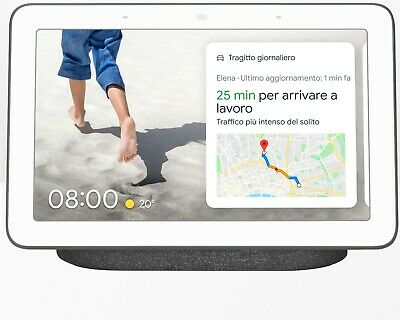 Assistente Virtuale GOOGLE - Nest Hub - smart bianco nero