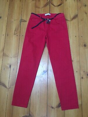Girls Zara Soft Collection Red Stretch Trousers 11-12 years 152cm ⭐️GC⭐️