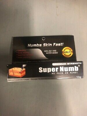 10g Super Numb Numbing Cream Skin Anesthetic Tattoo Piercing Waxing, Exp. 11/21