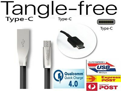 USB Fast Charging Cable Tangle Free Charger For Samsung S10 S9 S8 Plus Note 10 9