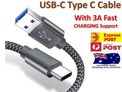 Samsung Galaxy S10 S9 S8 Plus Note 10 9 Braided USB-C Type-C Sync & Charge Cable