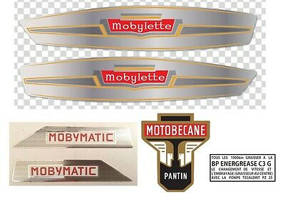 Kit Restauration D'Autocollants MOBYLETTE pour MOTOBECANE.