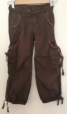 Bonpoint Girls Age 8 Brown Cargo trousers Casual Loose