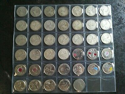 Collection of 40 Different Quarters (25c) From 1940-2017, No Reserve! (Lot #10)