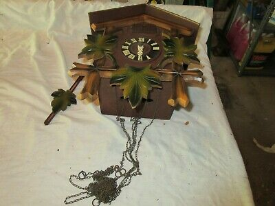 "COCKOO CLOCK , 12""X10""X6"" , Vintage , Rare Collectible"