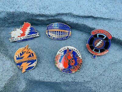 Grateful Dead and Company (LOT OF 5)  Official Pins GDP NEW