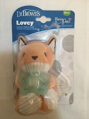 Dr. Browns Franny Fox Lovey Happy Paci  Pacifier  Teether Holder Baby Plush