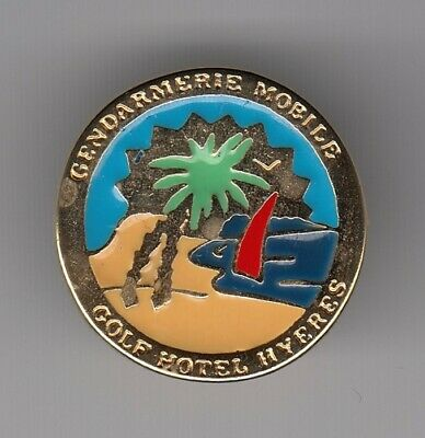 Rare Pins Pin's .. Gendarmerie Nationale Egm Mobile Golf Hotel Hyeres 83 ~En
