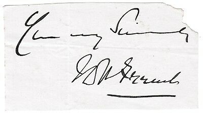 Field Marshal French - Earl of Ypres - World War 1 Forces Commander - signature