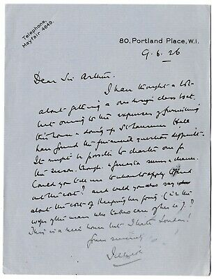 Jellicoe - Admiral of the Fleet - Governor New Zealand - 1926 ALS: I hate London
