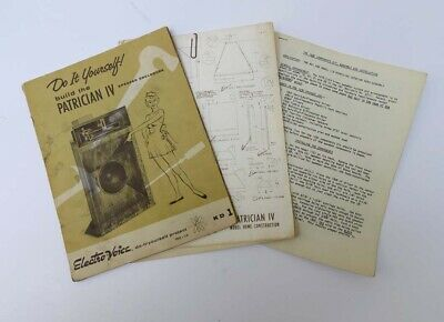 Vintage Electro-Voice Ev Patrician Iv Plans Blueprints - Original Not A Reprint