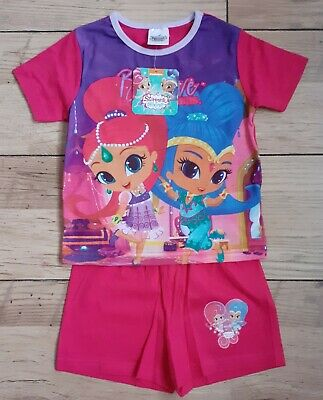 Girls Shimmer & Shine - Believe in Your Dreams - Short PJs - 2-3 Yrs - Brand New