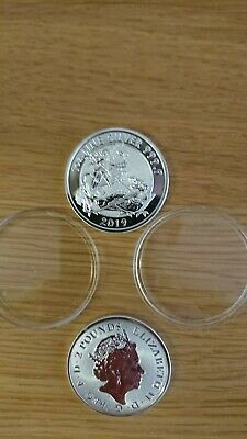3 x Royal Mint Valiant 1 oz silver coins 2019 (latest release) CGT free