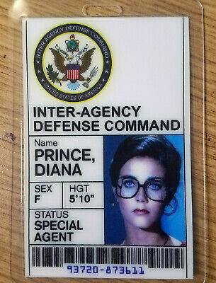 Wonder Woman  ID Badge- Special Agent Diana Prince cosplay costume prop