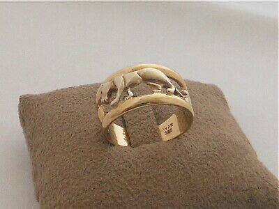 Panther Leopard Ring 585 Gold AVAR