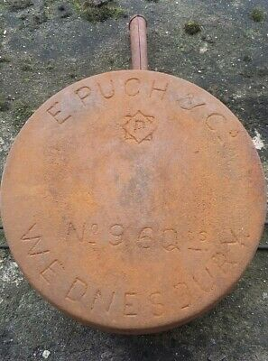 Large Antique Victorian Cast Iron Cooking Pot Rustic Pan Barn Find Wednesbury