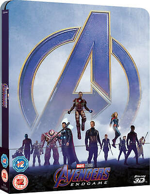 AVENGERS ENDGAME - 3D + 2D BLU RAY ( STEELBOOK - UK EXCLUSIVE ), Iron Man, Thor