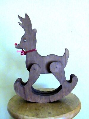 Wooden Rudolph The Red Nosed Reindeer Rocker