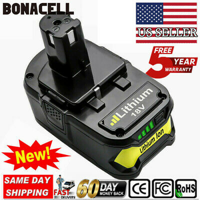 US! 18V 4.0AH Lithium-ion Battery for Ryobi One Plus P108 P107 P104 P105 P102 BN