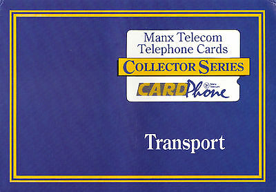 Isle of Man Manx Telecom Phonecard 1st Transport set 1991 Collector Series Pack