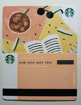 2019 Starbucks Gift Card Summer Seasonal Book Drink Shades No Value Never Swiped