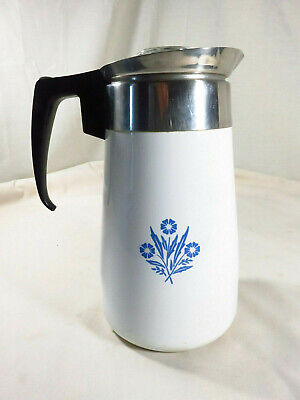 Corning Ware Cornflower Blue 9 Cup replacement Stovetop Coffee Percolator Pot