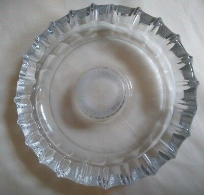"Vintage United States Senate Glass Ashtray Round Memorabilia, Damage 10"" Round"