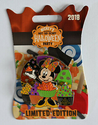 Disney Pin 129951 MNSSHP 2018 - Cupcake Minnie Mouse Halloween Party NOC