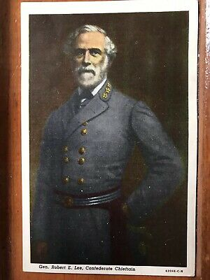 General Robert E Lee, Confederate Chieftain Vintage Post Card