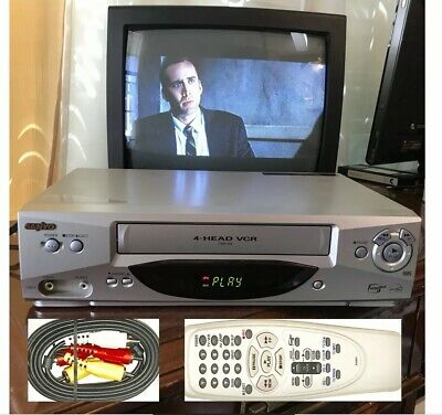 Sanyo VCR Player Recorder Video VHS Tape VMM-400 Tested Original Remote+Cables