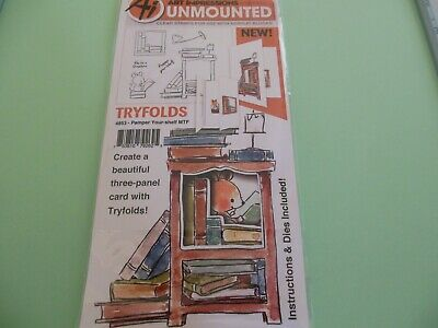 Art Impressions 4203 TryFolds Series Garden TF Rubber Stamp
