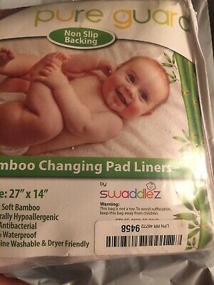 New Pure Guard Bamboo Changing Pad Liners