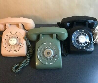 "Lot Of ""3"" Vtg Rotary Phones-Itt And Western Elec."