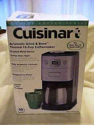 NEW Cuisinart DGB-650BC Grind-and-Brew Coffee Maker - Black