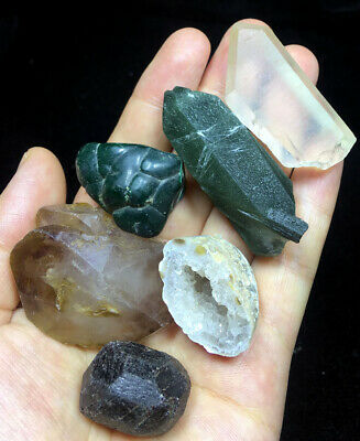 150g  7 Stones Chakra Set Seven Medium  Natural Raw Crystal Kit 031