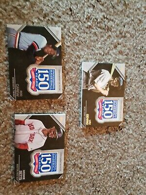 2019 Topps Series 2 Lot Of 3 Different 150 Years Commemorative Patch Cards!