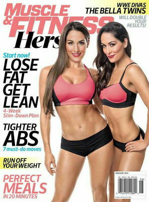 Brand New Muscle And Fitness May/June 2015 WWE Bella Twins Nikki & Brie