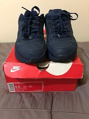 600365237 Nike Air Max LTD 3 Mens Midnight Blue Leather Running Shoes Size 8.5 With  Box!