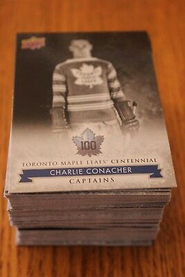 2017 UD Toronto Maple Leafs Centennial - #101-200 - Singles - Complete Your Set